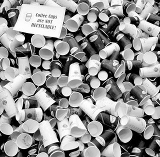 Paper Cups in a Landfill